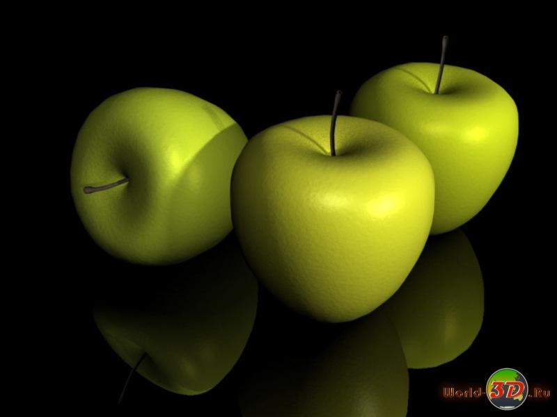 """Схема вышивки  """" зеленые яблочки """" ."""